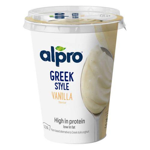 ALPRO GREEK STYLE SOIJAVALMISTE VANILJA 400 G