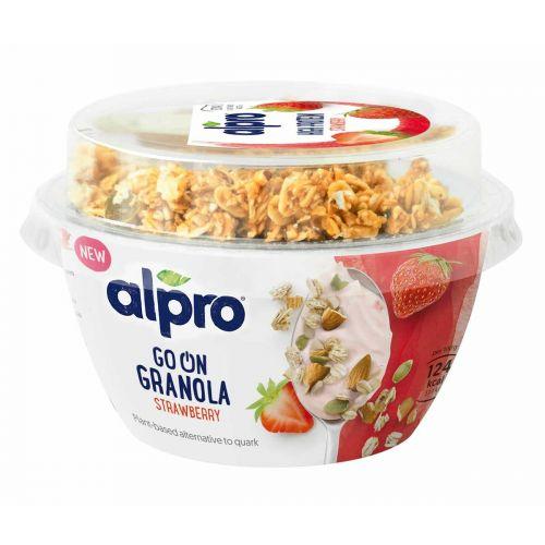 ALPRO GO ON GRANOLA MANSIKKA  140 G