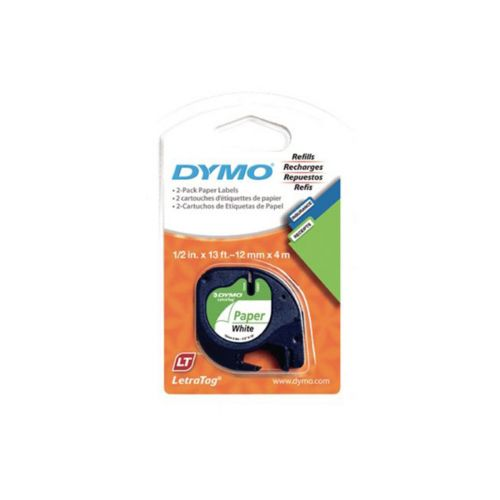 DYMO LETRATAG S0721520 PAPERITEIPPI 12MM VALKOINEN