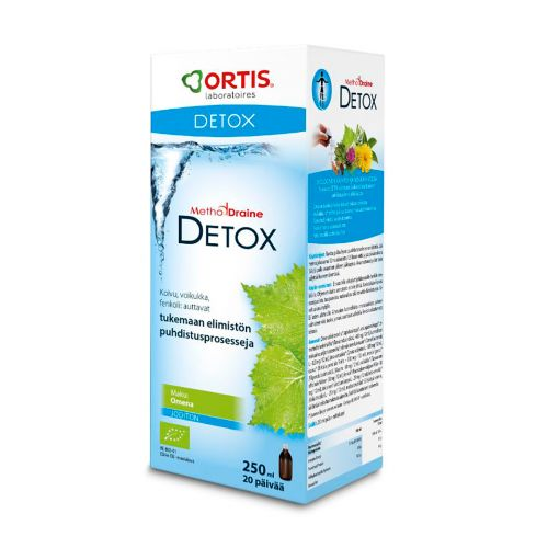 METHODDRAINE DETOX PUHDISTA KUURI OMENA 250 ML