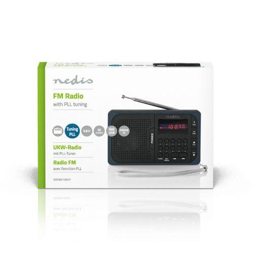 NEDIS FM-RADIO MUSTA/HARMAA