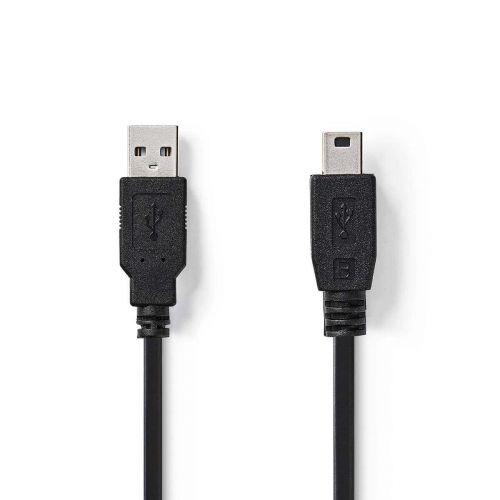 NEDIS USB 2.0 KAAPELI USB A UROS - MINI 5-PIN UROS PYÖREÄ 2.00