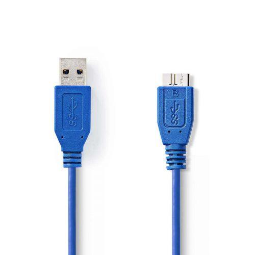 NEDIS USB 3.0 KAAPELI USB A UROS - MICRO B-UROS PYÖREÄ 2.00 M S