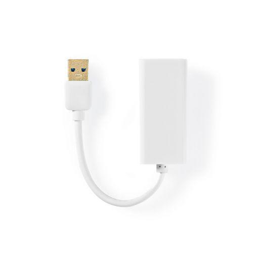 NEDIS USB 3.0-SOVITIN, USB-A-UROS - RJ45-NAARAS, 1 GBIT, 20 CM