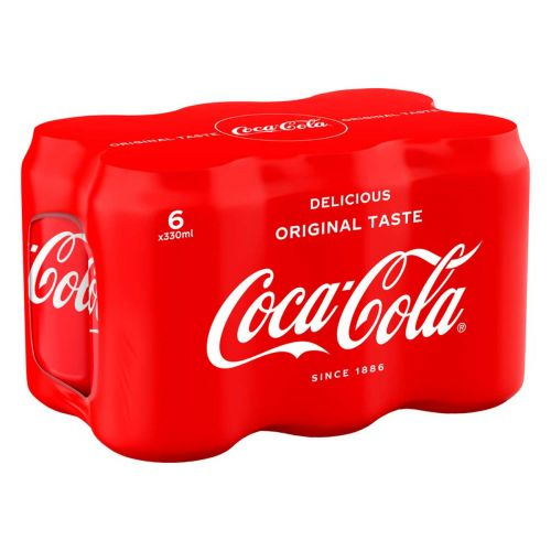COCA-COLA 0,33 TLK 6-PACK  1,98 L