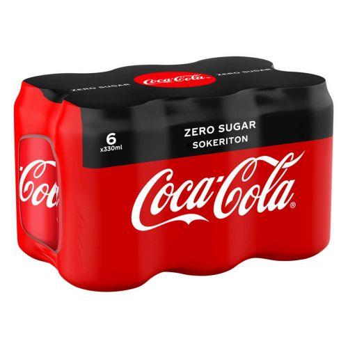 COCA-COLA ZERO 0,33 TLK 6-PACK 1,98 L