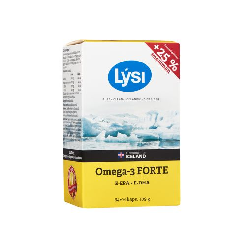 LYSI OMEGA-3 FORTE KALAÖLJYKAPSELI 64 KPL