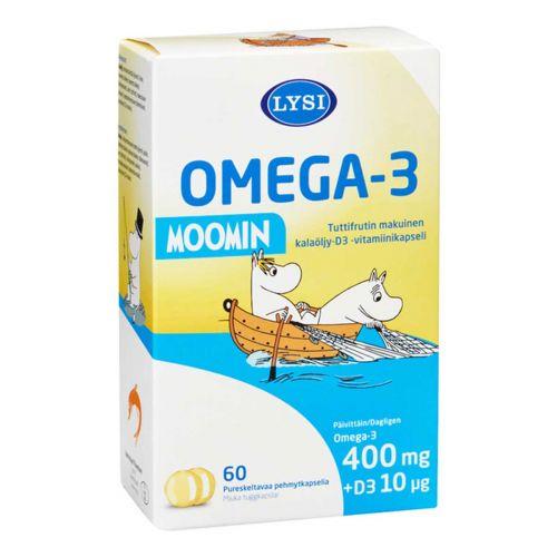LYSI OMEGA-3 MOOMIN 60 KPL