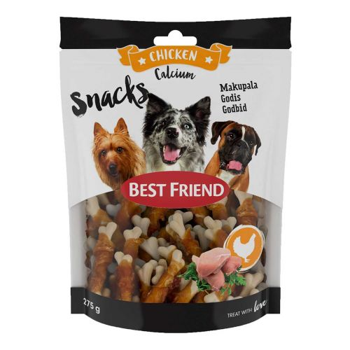 BEST FRIEND CALCIUM SNACKS KANAFILEELLÄ 8CM 275 G