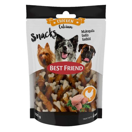 BEST FRIEND CALCIUM SNACKS KANAFILEELLÄ 8CM 100 G