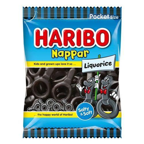 HARIBO NAPPAR LIQUORICE 80G