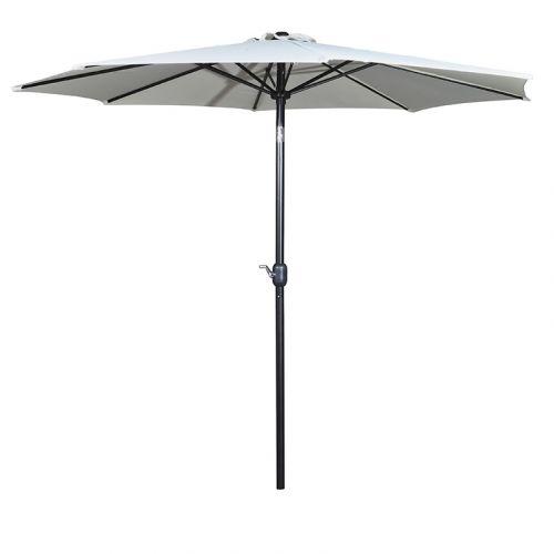 Aurinkovarjo Umbrella halkaisija 3m, musta/kerma