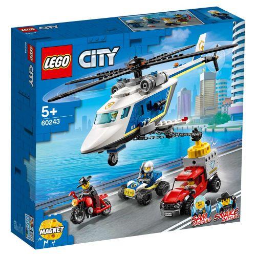 LEGO® City Police60243Takaa-ajo poliisihelikopterilla