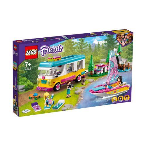 LEGO FRIENDS 41681 METSÄRETKI ASUNTOAUTOLLA JA PURJEVENEILLEN