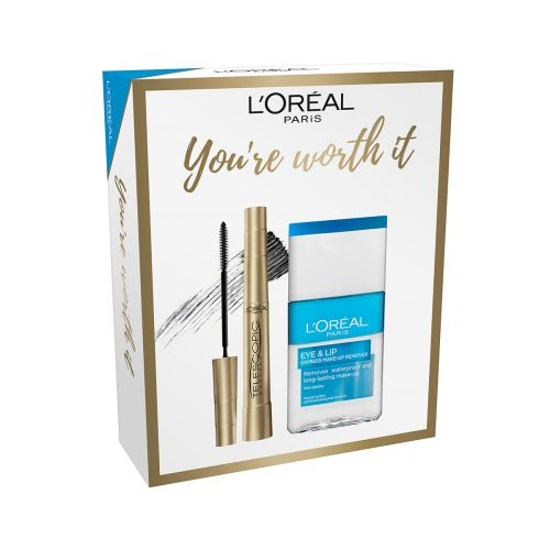 LOREAL TELESCOPIC MASCARA+EYE&LIP MAKE-UP REMOVER GIFT BOX