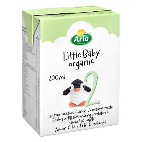 ARLA LITTLE BABY ORGANIC 2 LUOMU VIEROITUSVALMISTE 200 ML