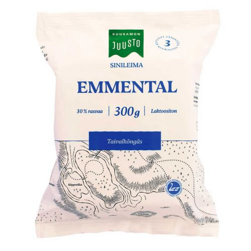 KUUSAMON EMMENTAL SINILEIMA 300 G