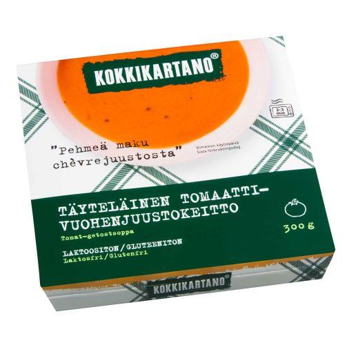 KOKKIKARTANO TÄYTELÄINEN TOMAATTI-VUOHENJUUSTOKEITTO 300 G