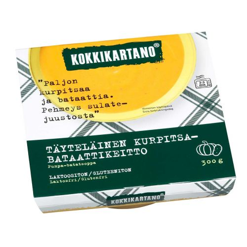 KOKKIKARTANO TÄYTELÄINEN KKURPITSA-BATAATTIKEITTO 300 G