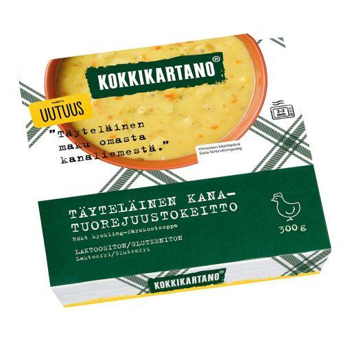 KOKKIKARTANO TÄYTELÄINEN KANA-TUOREJUUSTOKEITTO 300 G