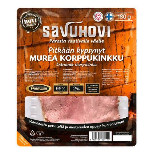 SAVUHOVI PITKÄÄN KYPSYNYT KORPPUKINKKU 180 G