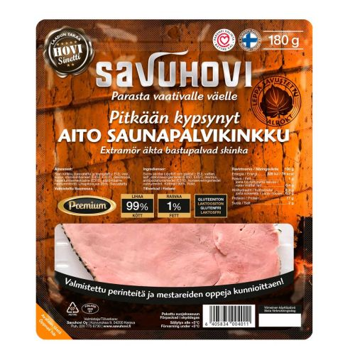SAVUHOVI PITKÄÄN KYPSYNYT SAUNAPALVIKINKKU 180 G