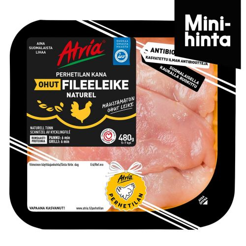 ATRIA PERHETILAN KANAN OHUT FILEELEIKE NATUREL 480 G