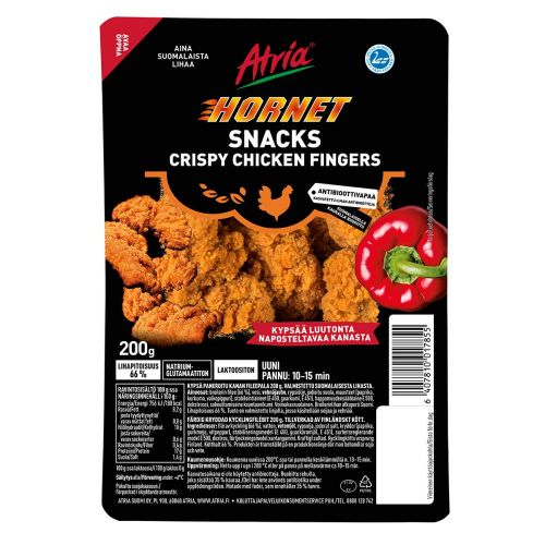 ATRIA HORNET SNACKS CRISPY CHICKEN FINGERS 200 G