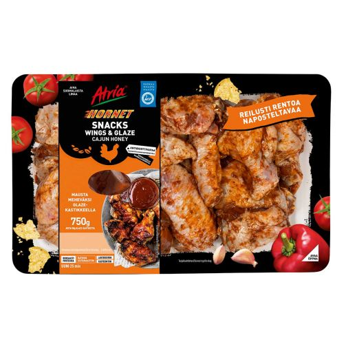 ATRIA HORNET SNACKS WINGS & GLAZE 750 G