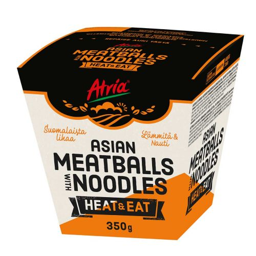 ATRIA HEAT & EAT ASIAN MEATBALLS WITH NOODLES 350 G