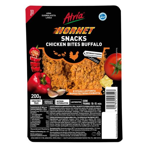 ATRIA HORNET SNACKS CHICKEN BITES BUFFALO 200 G
