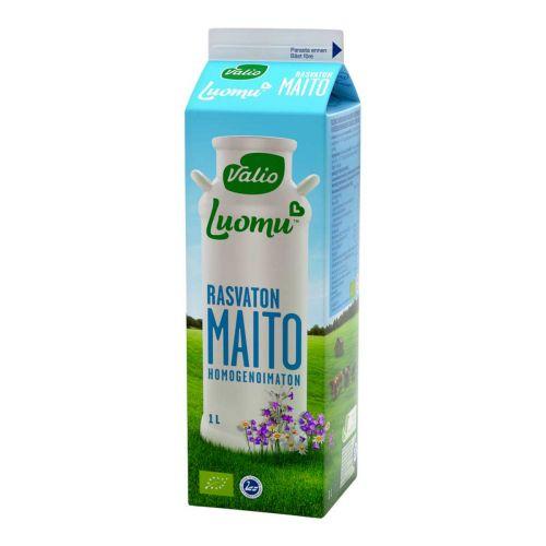 VALIO LUOMU RASVATON MAITO 1L
