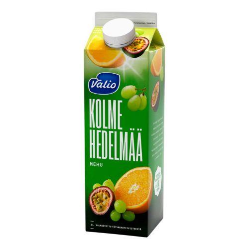 VALIO 3-HEDELMÄN MEHU 1L