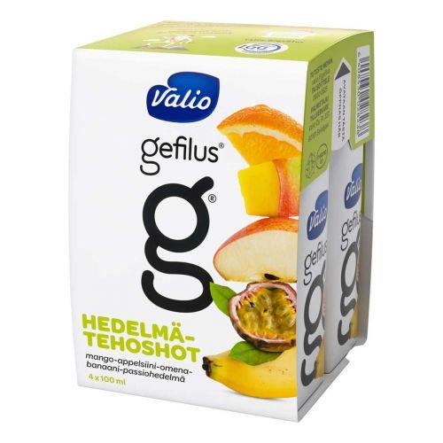 VALIO GEFILUS HEDELMÄTEHOJUOMA 100ML 4-PACK MANGO-APPELSIINI-OM 40