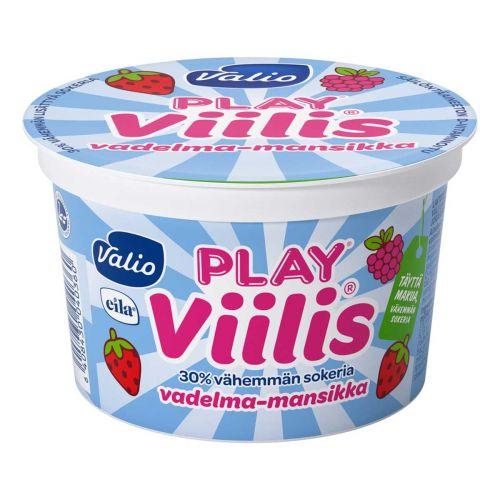 VALIO PLAY VIILIS VADELMA-MANSIKKA LAKTON 200 G