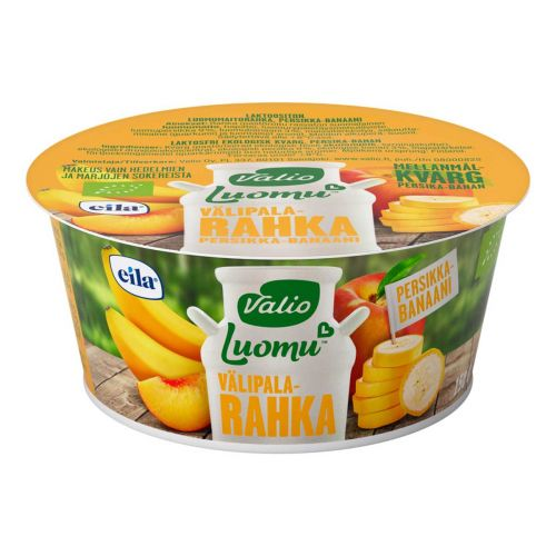 VALIO LUOMU VÄLIPALARAHKA PERSIKKA-BANAANI LAKTON 150 G