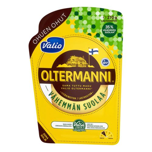 VALIO OLTERMANNI VÄHEMMÄN SUOLAA VIIPALE 270 G
