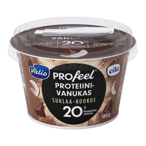 VALIO PROFEEL PROTEIINIVANUKAS SUKLAA-KOOKOS LAKTON 180 G