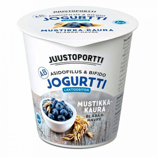 JUUSTOPORTTI AB-JOGURTTI MUSTIKKA-KAURA LAKTON 150 G