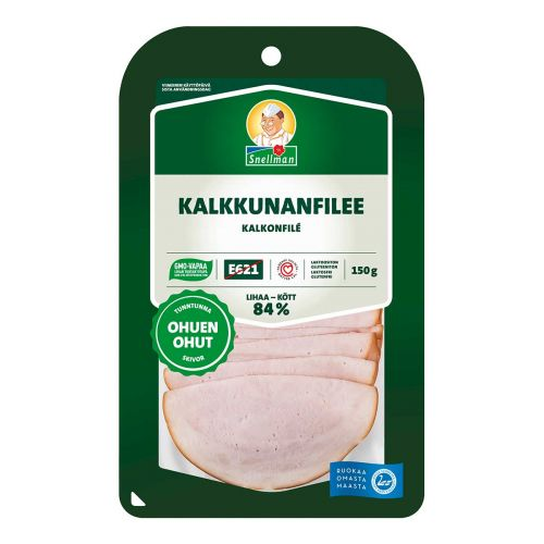SNELLMAN OHUEN OHUT KALKKUNANFILEE 150 G
