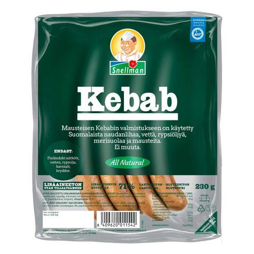 SNELLMAN ALL NATURAL KEBAB-MAKKARA 230 G