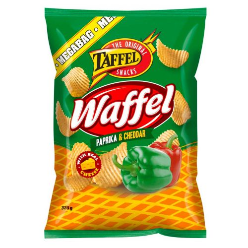 TAFFEL WAFFEL PAPRIKA&CHEDDAR  325 G