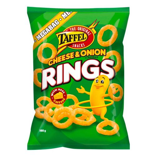 TAFFEL CHEESE & ONION RINGS 160 G