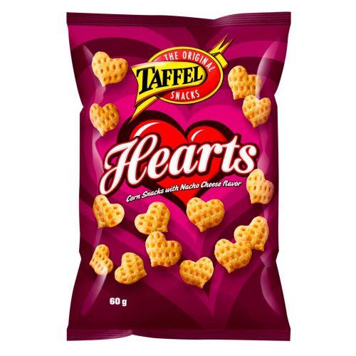 TAFFEL HEARTS MAISSISNACKS  60 G