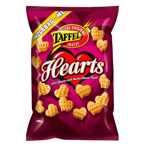 TAFFEL HEARTS MAISSISNACKS 235 G