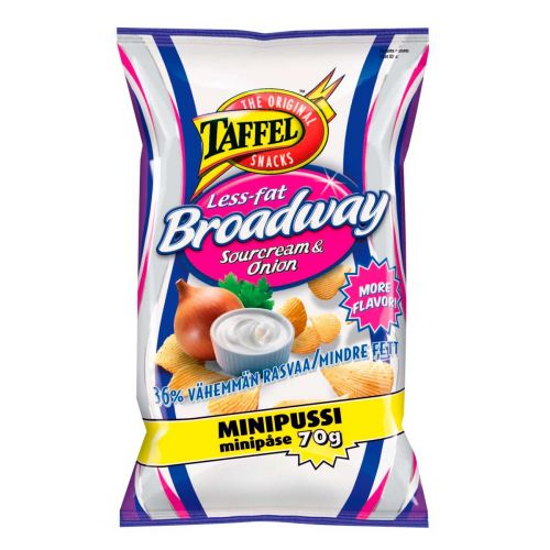 TAFFEL PERUNALASTU BROADWAY LESS FAT 75 G
