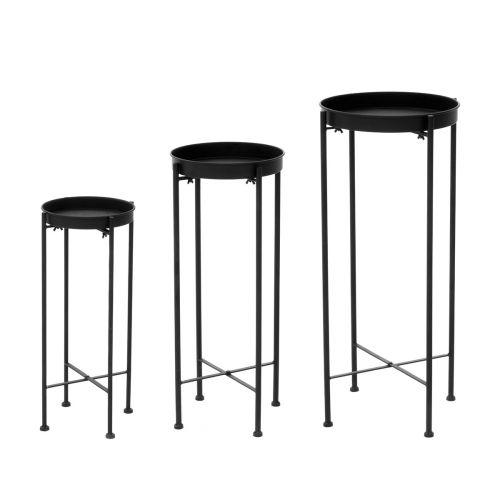 4Living Kukkapöytä musta 30,5x30,5x70,5cm