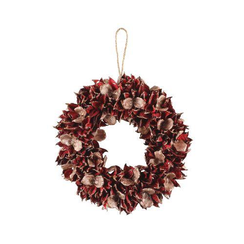 Winterseason Kranssi punaiset lehdet 32cm