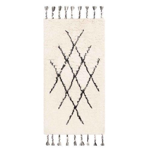 FanniK Matto Artemis 70x140cm luonnonvalkoinen/musta