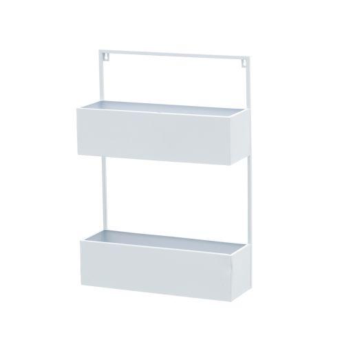 4Living Seinähylly Box 2 tasoa valkoinen